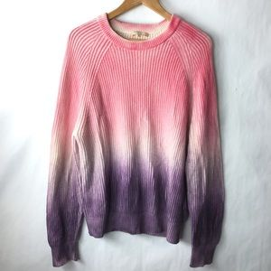 Michael kors ombré rubbed knit sweater pink Small